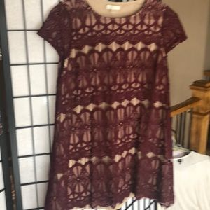 Cranberry lace dress from Francesca's